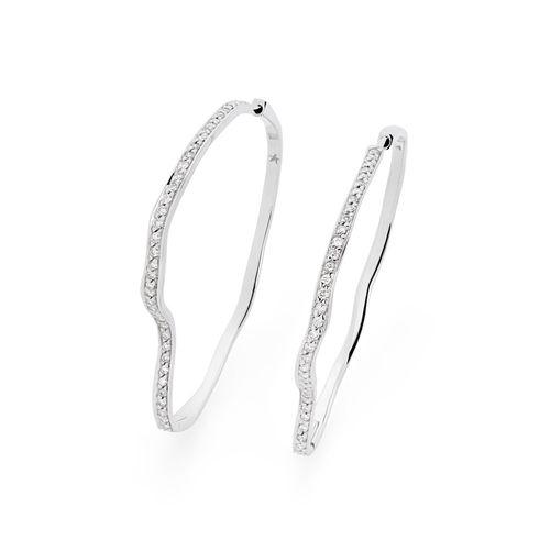 Par-de-brincos-argola-de-ouro-branco-18K-com-diamantes