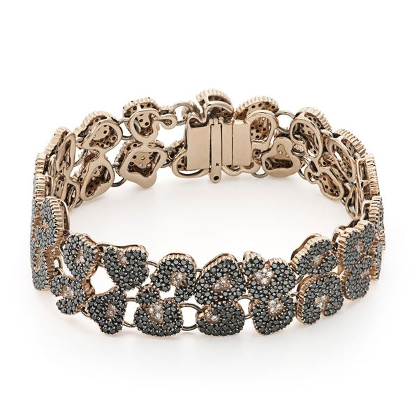 Pulseira-de-ouro-rose-18K-com-diamantes-negros-e-brancos---Colecao-Ancient-America-P0B196771