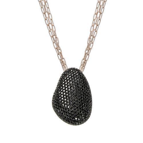 Colar-de-Ouro-Nobre-18K-com-diamantes-negros---Colecao-Pedras-Roladas---C1B190251-