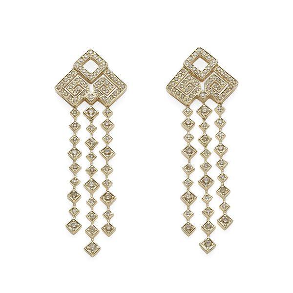 Par-de-brincos-de-ouro-amarelo-18K-com-diamantes-brancos-e-cognac---Colecao-Jogo-de-Cartas---B2B202405