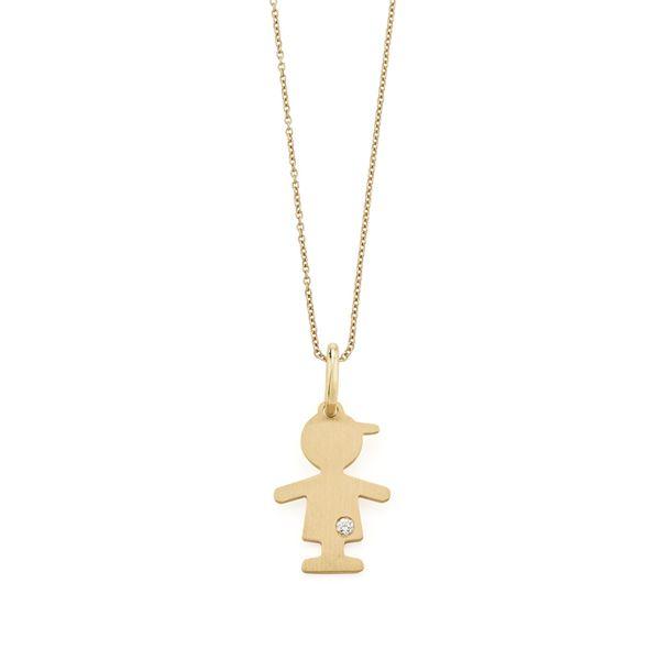 Pingente-de-ouro-amarelo-18K-com-diamante---Colecao-Menino-e-Menina---BE2O100334