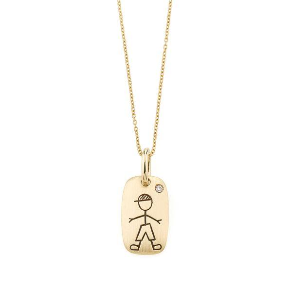 Pingente-de-ouro-amarelo-18K-com-diamante---Colecao-Menino-e-Menina---BE2B523011