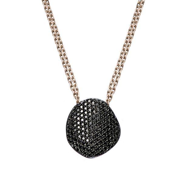 Colar-de-Ouro-Nobre-18K-com-diamantes-negros---Colecao-Pedras-Roladas---PE1B201805