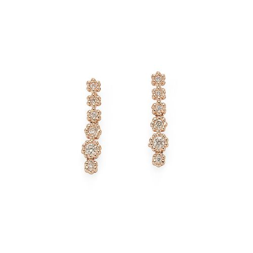Par-de-brincos-de-ouro-rose-18K-com-diamantes-cognac---MyCollection---B0B198537