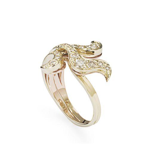 Anel-de-ouro-amarelo-e-ouro-rose-18K-com-diamantes-cognac---Colecao-Iris---A2B197768