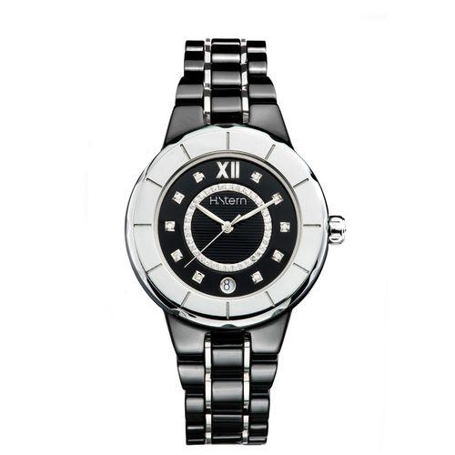 Relogio-feminino-de-ceramica-preta-e-trilho-de-diamantes---RS9AC204241