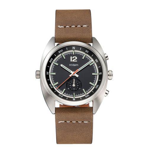 Cronografo-Compass-com-mostrador-preto-e-pulseira-de-couro-marrom---RH9CI202248