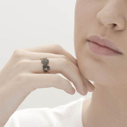 Anel-de-ouro-rose-18K-com-diamantes-negros-e-brancos---Colecao-Ancient-America