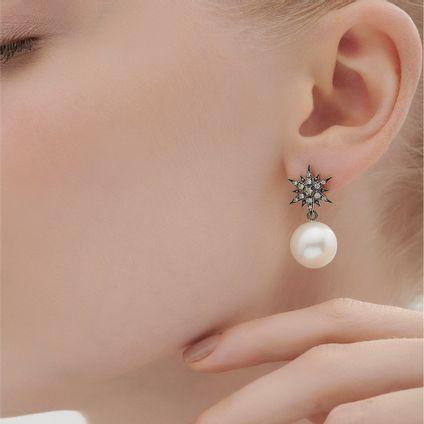 Par-de-brincos-de-Ouro-Nobre-18K-com-diamantes-cognac-e-perolas---Colecao-Stars---LookBook