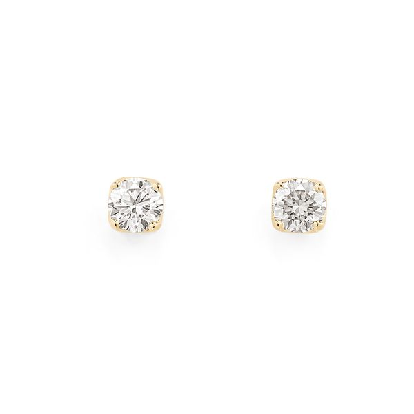 Par-de-Brinco-Solitario-de-ouro-amarelo-18K-polido-com-diamante-redondo---Antares---B2S523514