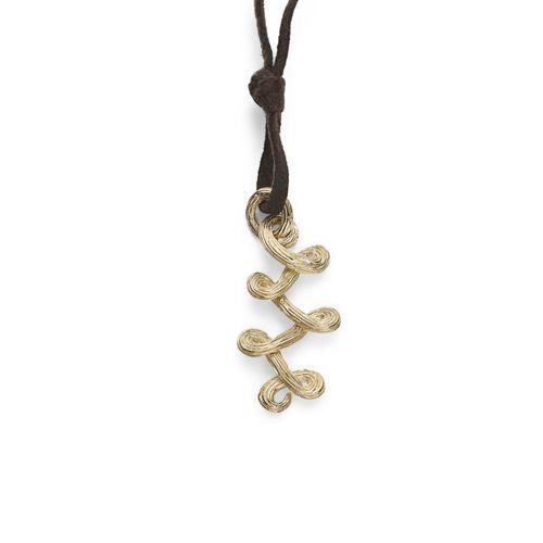 Colar-de-ouro-amarelo-18K-com-fio-de-chamois-marrom---Colecao-Celtic-Dunes---PE2O190412
