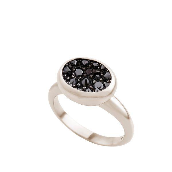 Anel de Ouro Nobre 18K com diamantes negros - Menor - Coleção Gravity