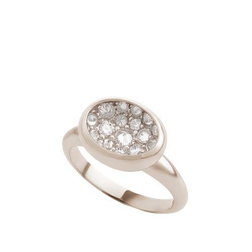 Anel de Ouro Nobre 18K com diamantes cognac - Menor - Coleção Gravity