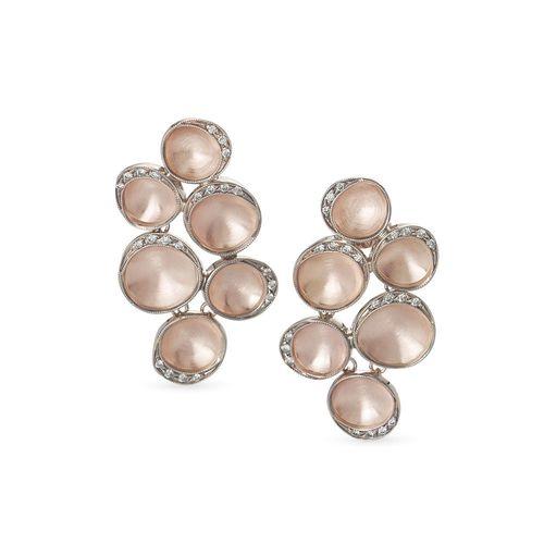 Par-de-brincos-de-ouro-rose-e-Ouro-Nobre-18K-com-diamantes-cognac---Colecao-Iris---B0B197733B0B197733