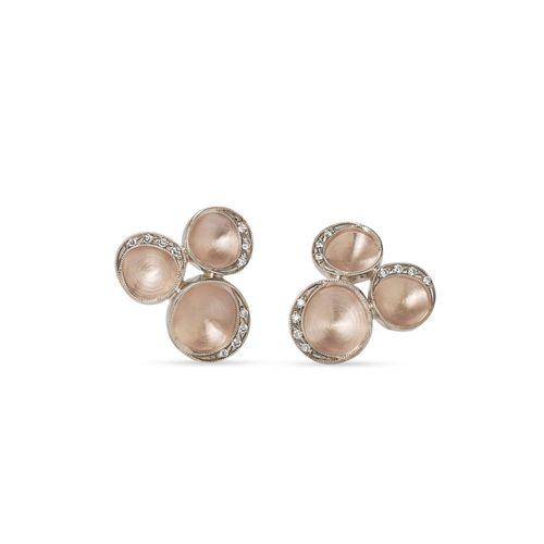 Par-de-brincos-de-ouro-rose-e-Ouro-Nobre-18K-com-diamantes-cognac---Colecao-Iris---B0B197735B0B197735